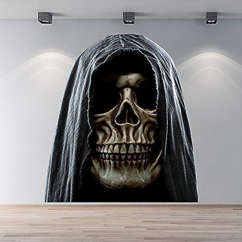Grim Reaper Skull Autocollant mural Monstre Sticker Halloween Décoration de maison Disponible en 8 tailles XX-Grand Numérique