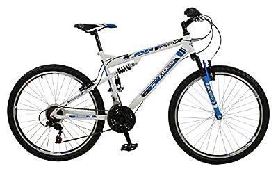 Boss Men's Astro Mountain Bike - Blue/White, Size 26