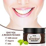 Natürliches Zahnaufhellung, Luckyfine Bleaching Zähne, Zahnbleaching, Aktivkohle Pulver Zähne Aufhellen - Activated Charcoal Teeth Whitening, 100% Rein REIN ohne schädliche Zusatzstoffe (50g)