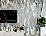 ADLFJGL Moderne Minimalistische Hergestellten Tapeten Schlafzimmer Wohnzimmer 3D - Fernseher 0.53M×9.5M Silber - Grau Wallpaper