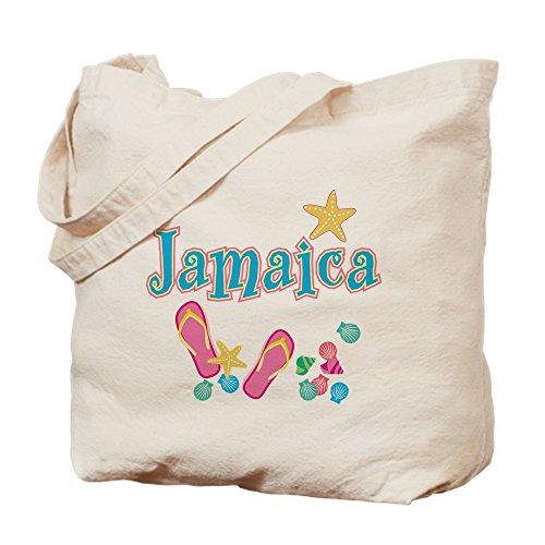 CafePress-Jamaika Flip Flops --Leinwand Natur Tasche, Reinigungstuch Einkaufstasche