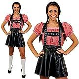 Déguisement de luxe pour femme avec cet ensemble jupe salopette Bavaroise + une chemise rouge et blanche à carreaux. Idéal pour les fêtes de la bières Oktoberfest. ( XLarge )