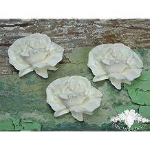 Shabby Chic Moulding Applique 3 Large English Roses Rose Decorative Furniture Trim Embellishment Onlay
