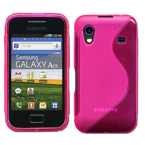 ebestStar - Compatibile Cover Samsung Ace Galaxy S5839i, S5830, S5830i Custodia Protezione S-Line Design Silicone Gel TPU Morbida e Sottile, Rosa [Apparecchio: 112.4 x 59.9 x 11.5mm, 3.5'']