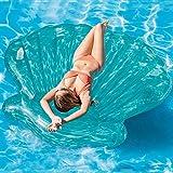 S&W WSW Gran Tamaño Azul Cáscara Inflable Cama Gruesa Red Neta Nadar Anillo Diosa Vacaciones Ocio con Estilo cómodo