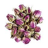 Damaszener Rose Knospen Bio Tee – Wohltuend süß - entspannende Süße – Biologisch Damast erhob sich - Organischer Rosa damascena knospe - Keim 50g
