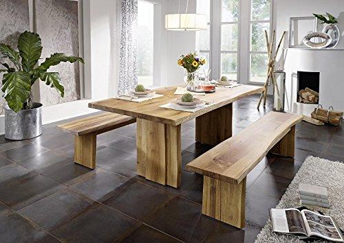 Baumtisch 160x90 Wildeiche Baumkante