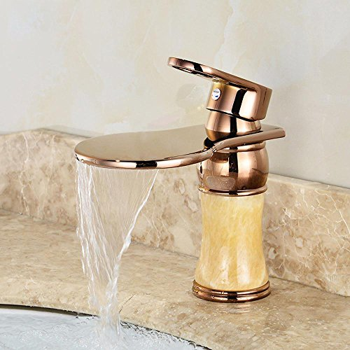 Rame rubinetto del bacino rubinetto caldo e freddo rubinetto cascata europea- più sicuro per in bagno cucina