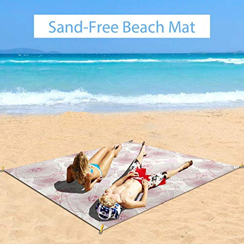 Large Waterproof Outdoor Picnic Blanket, Abstract Flowers Little Gentle Blossoms Of A Romantic Spring Garden Art,Sandproof and Waterproof Picnic Blanket Tote for Beach Camping Hiking Grass Travelling