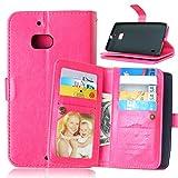 Happy-L-Fall Für Nokia Lumia 930, einfarbig Premium PU Leder Geldbörse Magnetische Schnalle Design Flip Folio Schutzhülle Abdeckung Eingebaute 9 Kartensteckplätze & Ständer (Farbe : Rose)