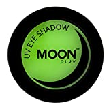 Moon Glow - Ombretto per la luce Neon UV 3.5g Verde – produce un'incredibile brillantezza sotto l'illuminazione UV/luci scure