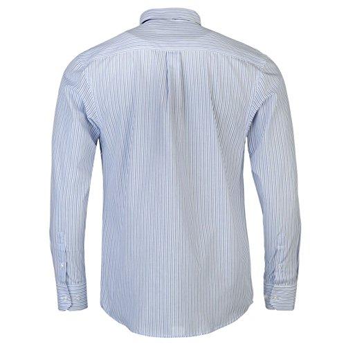 Pierre Cardin Herren Hemd Und Krawatte Set Langarm Knopfleiste Brusttasche White/Blue Strp