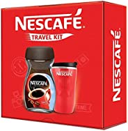 Nescafe Travel Kit (Red) - Nescafe Classic Coffee, 200g with Travel Mug (Limited Edition)
