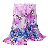 Namgiy Sciarpa Scialle Autunno Inverno Signore Chiffon Wrap 155x 50cm Viola Violet 155 * 50cm