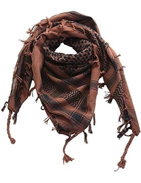 Superfreak® Pañuelo pali de dos colores clásico°chal PLO°100x100 cm°Pañuelo palestino Arafat°100% algodón – marrón...