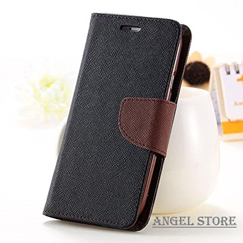 Angel Store Covers For Samsung Galaxy Grand Prime Back Cover & Front Flip Cover Diary Case (Black & Brown) G530H  available at amazon for Rs.185