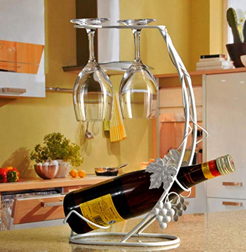 HANQINGLI European Retro Red Wine Bottle Shelf Red Wine Cup Holder Upside Down Rack Restaurant Home Display Stand Creative Wine Cabinet Wine Set High 39 Length 24Cm -