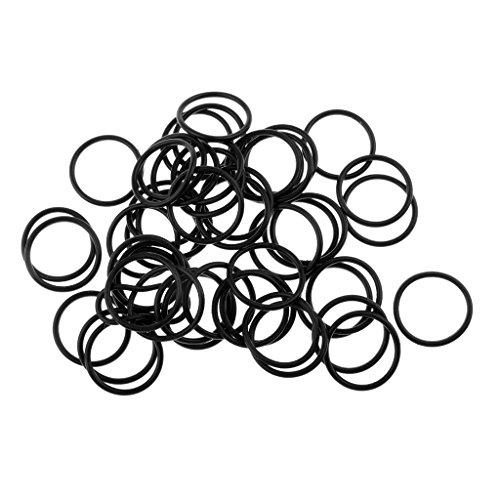 MagiDeal 50 Stück Karpfenangeln O-Ring Köder Boilie Behälter Ring Silikonringe Zubehör - L (Verrückte Oring)