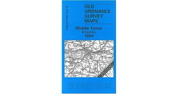 OLD ORDNANCE SURVEY MAP MIDDLE TAMAR CARADON 1894 TAVISTOCK LAUNCESTON TREWEN