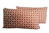 #6: AJ Home Cotton Multicolor Pillow Cover Set(2 Pieces)-18