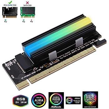 EZDIY-FAB NVME PCIe Adaptador con 5V ARGB disipador de Calor ...