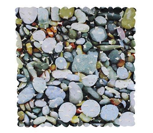 Badewanneneinlage Duscheinlage Duschmatte mit 4 Druckdesign - Steindruck - 53 x 53 cm - von Brandseller