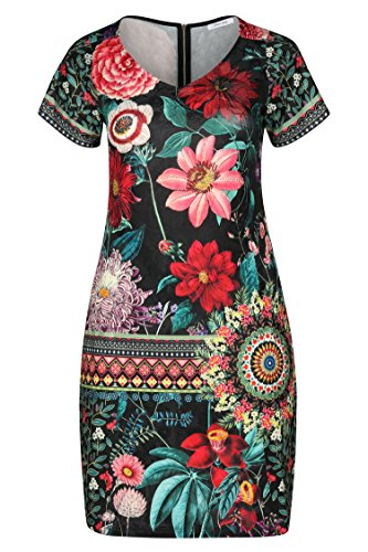 PAPRIKA Damen Große Größen Kleid mit Blumen-Print und Strass-Details Multi L (48)