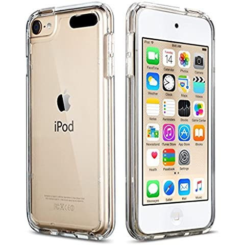 iPod 5 / 6 Carcasa, ULAK® iPod Touch 5 / 6 Funda Case CLEAR SLIM Cubierta de la caja Transparente Soft Gel Flexible Thin TPU piel Resistente a los aranazos para Apple iPod Touch 5 / 6