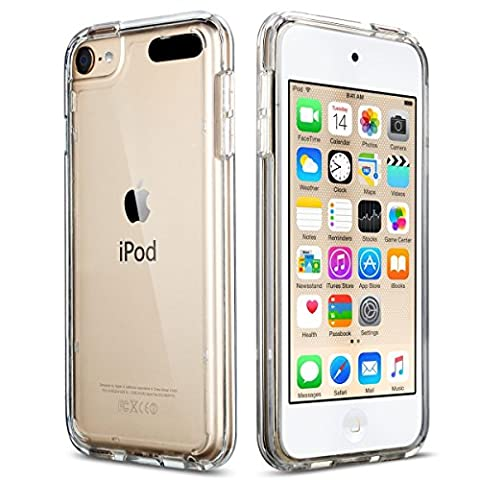 iPod Touch 5/6th Case, ULAK CLEAR SLIM Transparent iPod Touch Case Soft Flexible Thin Gel TPU Skin Scratch-Proof Case Cover for Apple iPod Touch 5th/6th