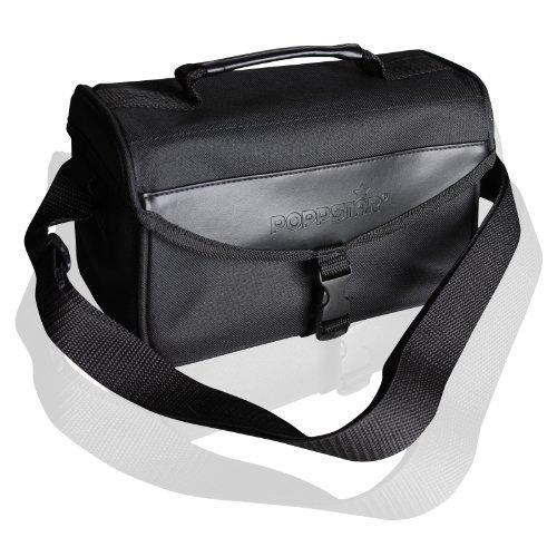 Poppstar Transporttasche mit Zubehörfach für externe 8,9 cm (3,5 Zoll) Festplatten, besteht aus schwarzem Nylon
