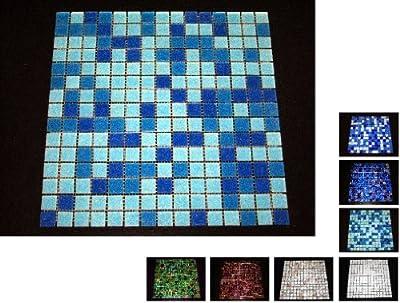 1 Netz Glasmosaik 4 mm Hellblau von Mosaikdiscount24 - TapetenShop