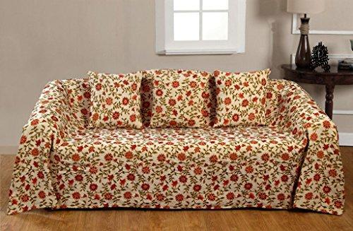 KLiving 90 x 100 cm, 60 pourcent Polyester 40 Victoria/couvre-lit en coton naturel foncé
