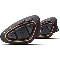 Midland BTX1 PRO Twin Interfono Moto Bluetooth Coppia, Auricolari Casco con Cancellazione del Rumore, Comunicazione…