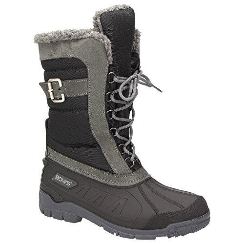 BOWS® -SUSI- Damen Schnee Stiefel Snow Schuhe Winterboots gefüttert wasserdicht wasserabweisend ,...