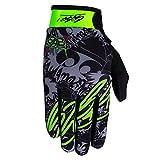 Awesomaniac RACEWEAR leichte Handschuhe Mountain Bike Downhill Enduro Motocross Freeride DH MX MTB BMX Quad Cross, schnelltrocknend, rutschfest und atmungsaktiv, Farbe Grau Grün, Größe M