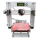 3D-Drucker, WER Prusa I3 3D-Drucker DIY 3D-Drucker Kit Set [Unterstützt 5 Materialien PLA, ABS, Nylon, Holz und Flexible PLA]