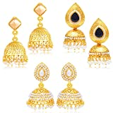 Sukkhi Eye-Catchy Jhumki Gold Plated Set...