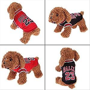 La Cabina T-shirt avec Numéros d'été Basketball Uniformes pour Chien Vêtements Gilet Sportswear Pet Outfit Costume Chiot