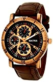 Matrix Analog Chrono Look Black Dial Men...