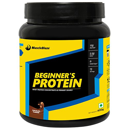 MuscleBlaze Beginner's Whey Protein Supplement- Chocolate Flavour (400 gram)