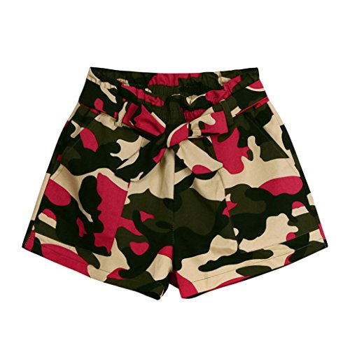 ESAILQ Shorts Women Summer Camouflage Loose Hot Pants Lady Summer Beach Trousers