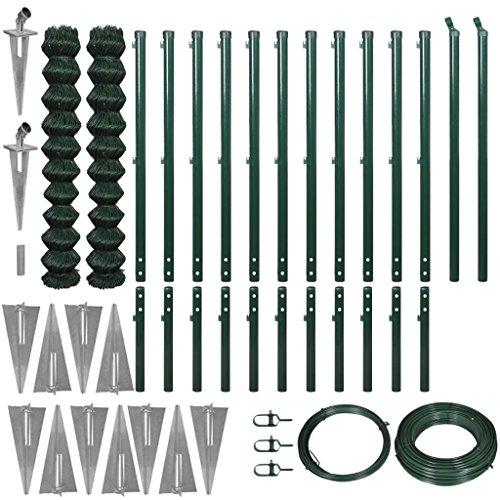 Lingjiushopping Set de près de Fil avec Hollywood de Pointe 1.97 x 25 m Vert Clôture de Fil : Tama ? ou de la clôture : 1,97 x 25 m (Hauteur x Longueur) (2 Rouleaux, Chaque de 1,97 x 12,5 m)