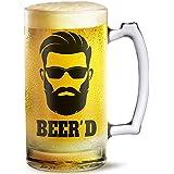 Beer Mug Beer'd Printed Beer Mug 500 Ml Best Gift For Husband,Friend,Birthday,Anniversary