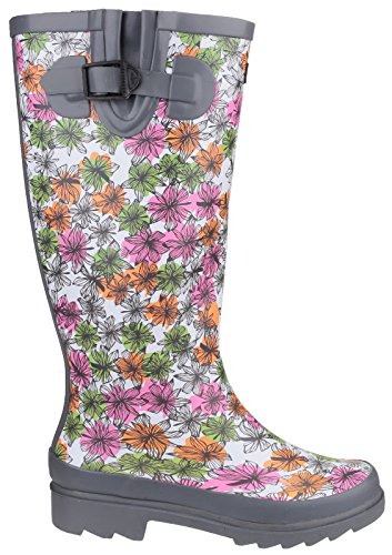 Cotswold Flower Power Ladies Wellington Boot Grigio