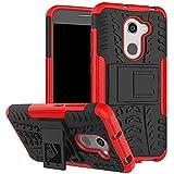 Funda® Firmness Smartphone Funda Carcasa Case Cover Caso con Kickstand para Alcatel A3(Rojo)