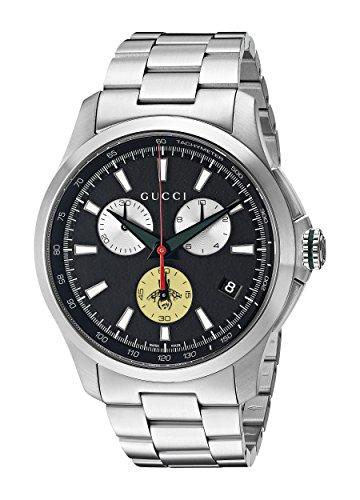 Gucci YA126267 - Reloj de pulsera hombre, acero inoxidable, color Plata