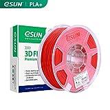 eSUN Filament PLA+ 1.75mm, Imprimante 3D Filament PLA Plus, Précision Dimensionnelle +/- 0.03mm, 1.1 LBS (0.5KG) Bobine Pour Imprimante 3D, Rouge
