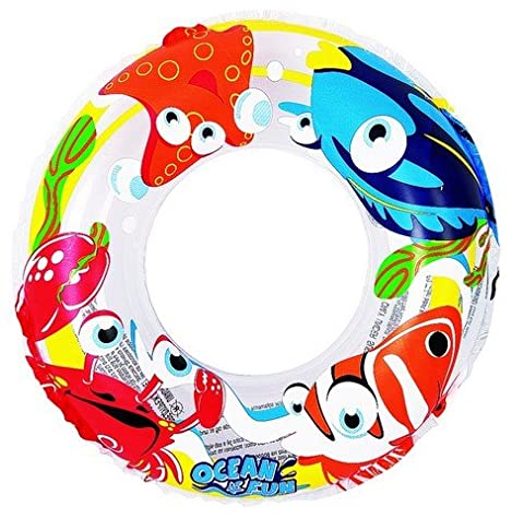 20 Clear Ocean Fun Children's Inflatable Swimming Pool Inner Tube Ring Float