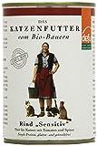 defu Bio Nassfutter Rind für Katzen Gluten und Getreidfrei 410