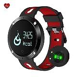 Fitness Armband mit Herzfrequenzsensor, Bluetooth Wasserdicht Fitness Tracker Pedometer mit Herzfrequenz Monitor/Blutdruck Messen/Schritt/Kalorien/Sleep Tracker kompatibel mit iPhone und Android Handy